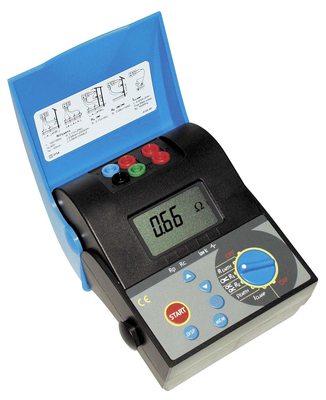 Измеритель сопротивления заземления - тестовый ток 2 мА, что позволяет измерять сопротивление без отключения схемы...